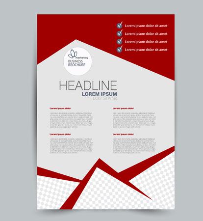 Illustration pour Flyer template. Design for a business, education, advertisement brochure, poster or pamphlet. Vector illustration. Red color. - image libre de droit