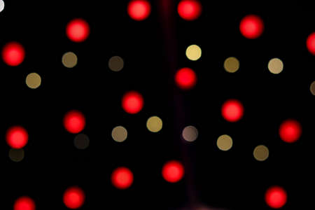 Photo for Bokeh yellow and red Christmas lights abstract photo for background - Royalty Free Image