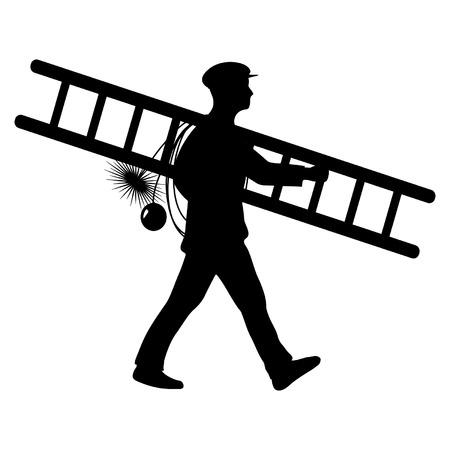 Illustration pour chimney sweeper - image libre de droit