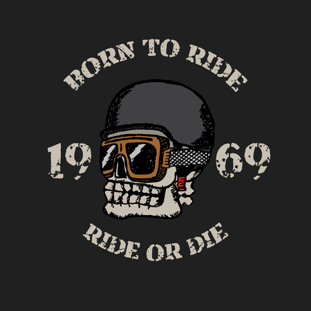 3410a9e7f Vintage motorcycle t-shirt graphics. Born to ride. Ride or die. Biker
