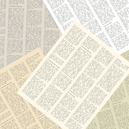 Illustration pour background of pages of vintage newspapers. vector illustration - image libre de droit