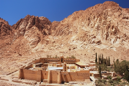 View of St  Catherine s Monastery and Mount Sinai, Egypt