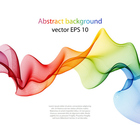 Illustration for Abstract color wave design element, concept decoration - Royalty Free Image