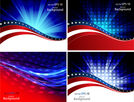Patriotic wave background Abstract image of the American flag