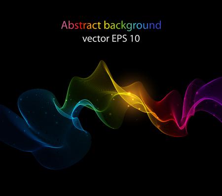Ilustración de Abstract color wave design element, concept decoration - Imagen libre de derechos