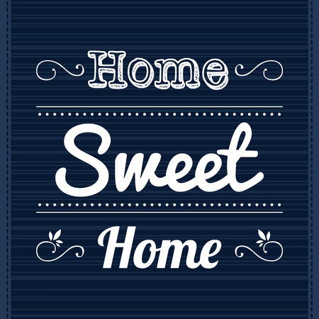 Decorative template frame design with slogan Home Sweet Home
