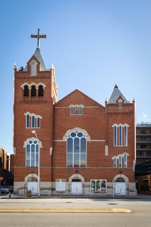 COLUMBIA, SC, USA-8 JANUARY 2010: The Bethel A.M.E. Church (African Methodist Episcopal) of Columbia was founded in 1866.  This Romanesque-Revival structure  was built in 1921.