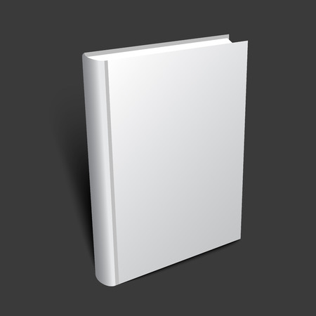 Illustration pour Standing 3d book illustration for cover design. Realistic vector mockup. - image libre de droit