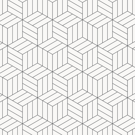 Illustration for Vector pattern. Modern stylish texture. Repeating geometric tiles. Striped monochrome cubes. pattern is on swatches panel - Royalty Free Image