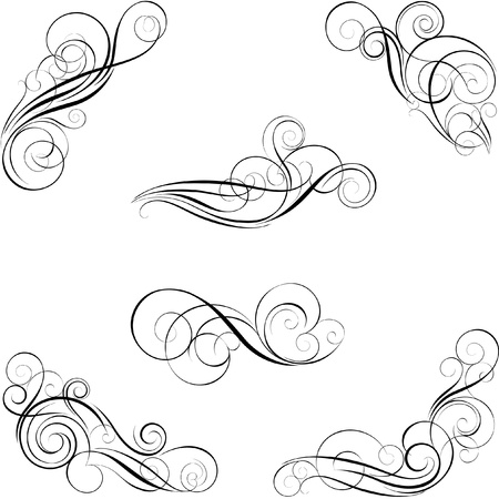 Illustration pour Set of calligraphy design - image libre de droit