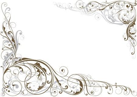 Illustration for Swirl floral corner - Royalty Free Image
