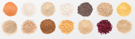 Photo for Heaps of various grains and beans - Royalty Free Image