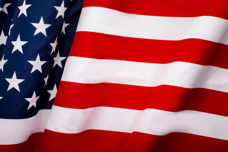 Photo pour Waving American flag with stars and stripes, independence of USA, United background - image libre de droit