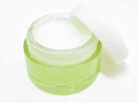 Beauty: This is a glass pot with beauty moisturizing face cream.