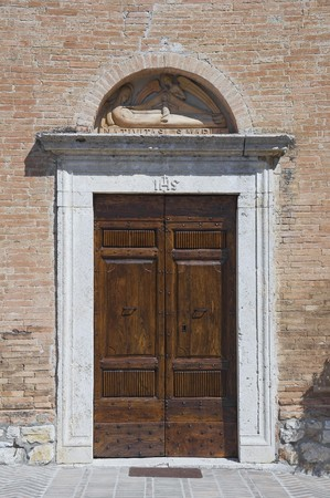 St. Maria del Serraglio Portal Church. Corciano. Umbria.