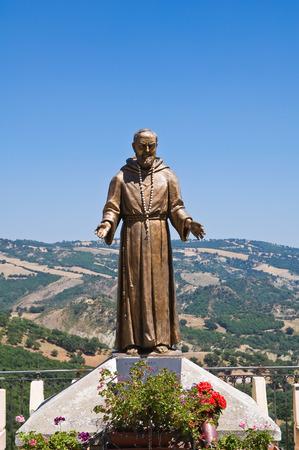 Bronze statue. Guardia Perticara. Basilicata. Italy.