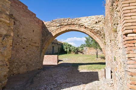 View of Craco. Basilicata. Italy.