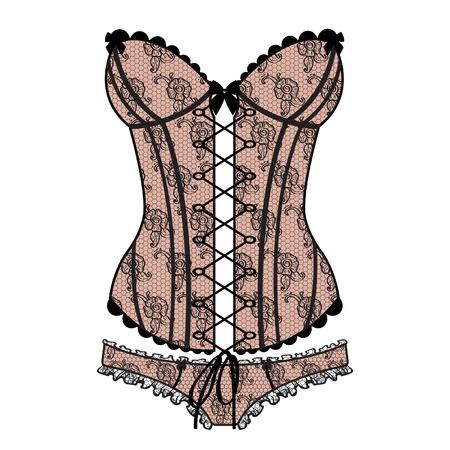 Lady s sexy guipure corset