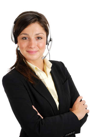 This is an image of female call center operator.