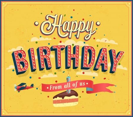 Happy birthday typographic design. Vector illustration.