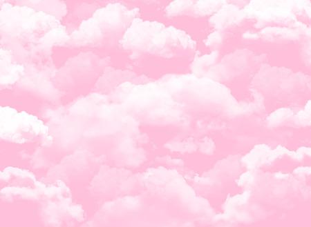 Photo pour pink sky background with clouds - image libre de droit