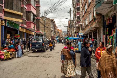 In The Street of La Paz  Bolivia