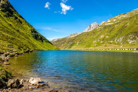 Oberalpsee lake in Switzerland - Oberapl pass