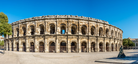 Ancient Roman Theatre Arena in Nimes - France