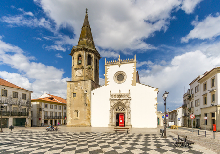 TOMAR,PORTUGAL - MAY 11,2017 - View at the St. John Baptist church in Tomar. Tomar is one of Portugals historical jewels and more significantly was the last Templar town to be commissioned for construction.