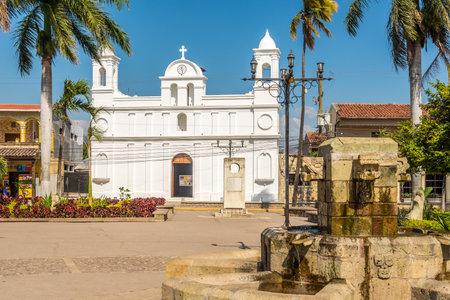 COPAN RUINAS,HODURAS - MARCH 10,2019 - View at the church of San Jose Obrero in Copan Ruinas. Copan Ruinas is a municipality in the Honduran department of Copan.