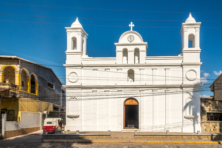 View at the Church of San Jose Obrero in Copan Ruinas, Honduras