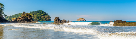 Photo for Panoramic view at the Espadilla bech in Manuel Antonio National Park, Costa Rica - Royalty Free Image
