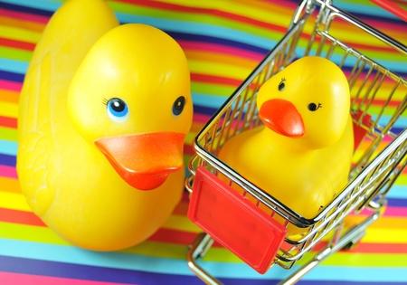 Photo pour Shopping for baby products - image libre de droit