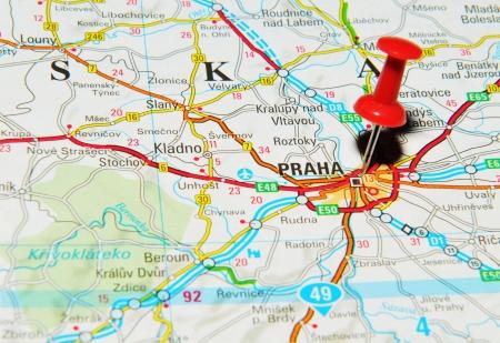 London, UK - 13 June, 2012: Prague, Czech Republic, marked ...