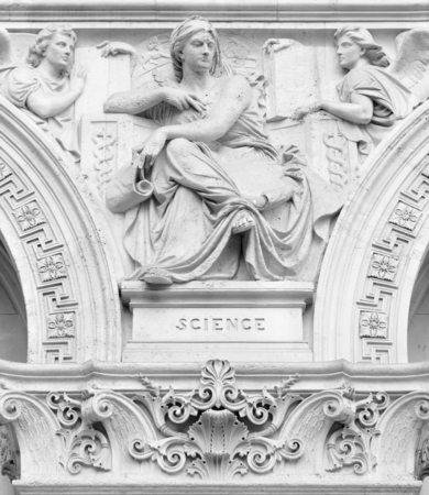 Architectural detail depicting the Science muse