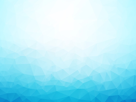 light blue winter background low poly