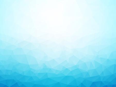 Ilustración de light blue winter background low poly - Imagen libre de derechos