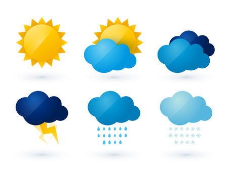 Illustration for set of weather vector icons - Royalty Free Image