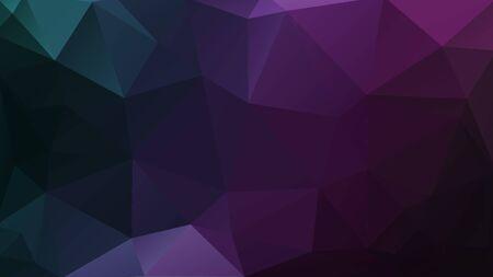 Illustration pour dark geometric background purple mosaic triangles texture - image libre de droit