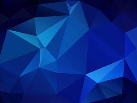 Illustration pour abstract polygonal background, vector blue mosaic pattern - image libre de droit