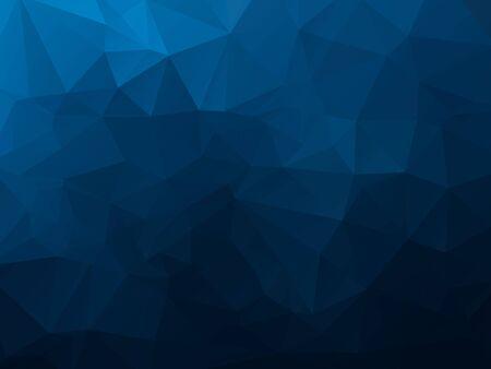 Illustration pour abstract polygonal background, vector dark blue mosaic pattern - image libre de droit