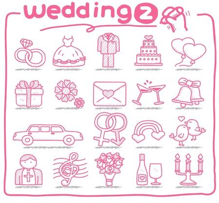 Foto de hand drawn wedding icons  - Imagen libre de derechos