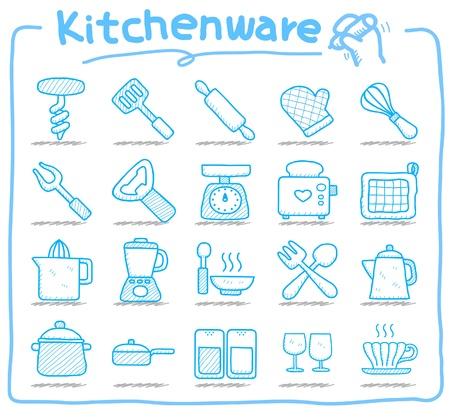 kitchenware icon set