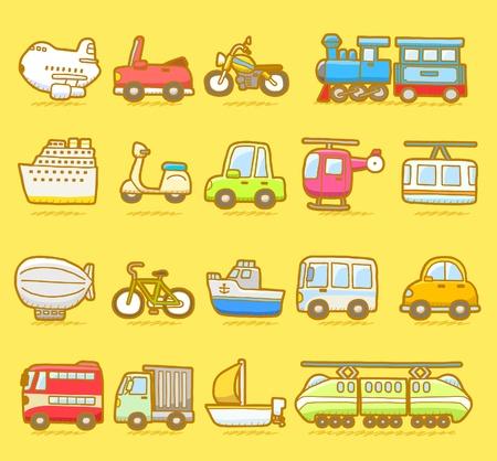 Photo for cartoon car,vehicle,machine,transportation icon set - Royalty Free Image