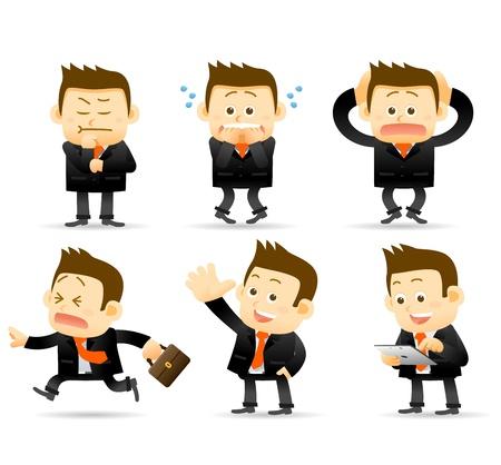 Illustration pour businessman set - image libre de droit