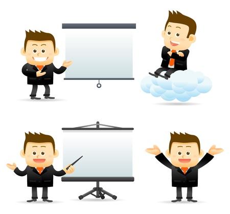 Illustration pour businessman with success brief  - image libre de droit