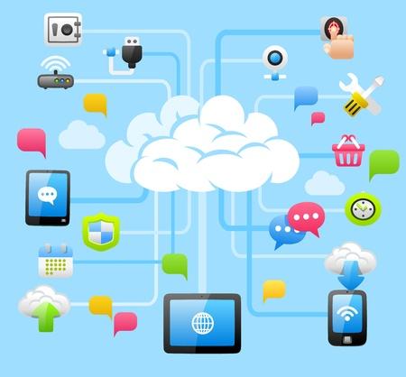 Illustration pour Intelligent Cloud Computing - image libre de droit