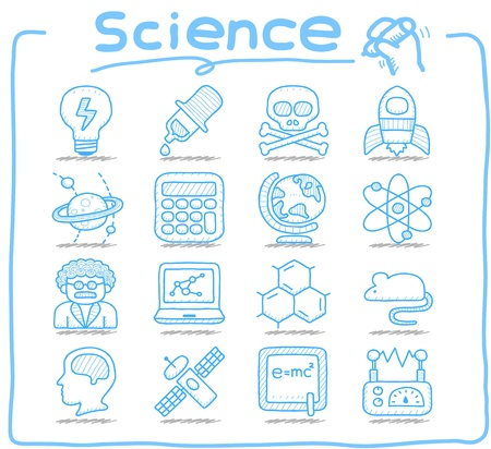 Pure Series   Hand drawn Science icon set
