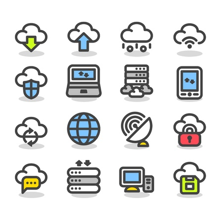 Simple Series   Internet,business,cloud computing icon set