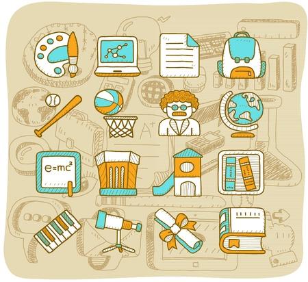 Mocha Series - School,education icon set
